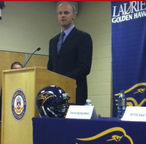 Michael Faulds at Thursday's press conference. (Photo by Justin Fauteux).