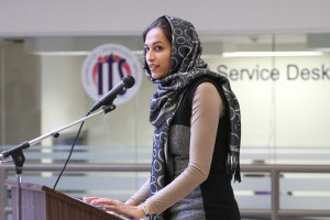 Zahra Sultani at last year's Open Forum. (File photo by Kate Turner)