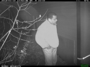 This man was seen looking into windows of residences in the Noecker Street area. (Photo courtesy of Waterloo Regional Police Service)