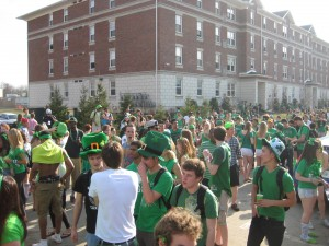 An estimated 5,000 people gathered on Ezra Ave. during St. Patrick's Day celebrations last year. (File photo by Linda Givetash).