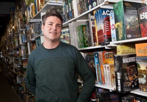 Jason Schill owns and operates J & J Cards and Collectibles, along with his brother Jim. (Photo by Nick Lachance)
