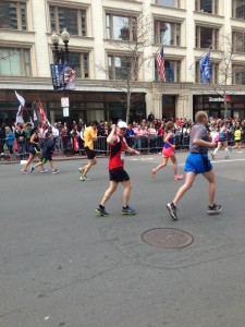 This photo was taken by Laurier student Meagan Suckling near the finish line of the Boston Marathon, about 10 minutes before the explosions that killed three and wounded over 250 went off. Suckling provided the photo to the FBI. (Photo courtesy of Meagan Suckling).