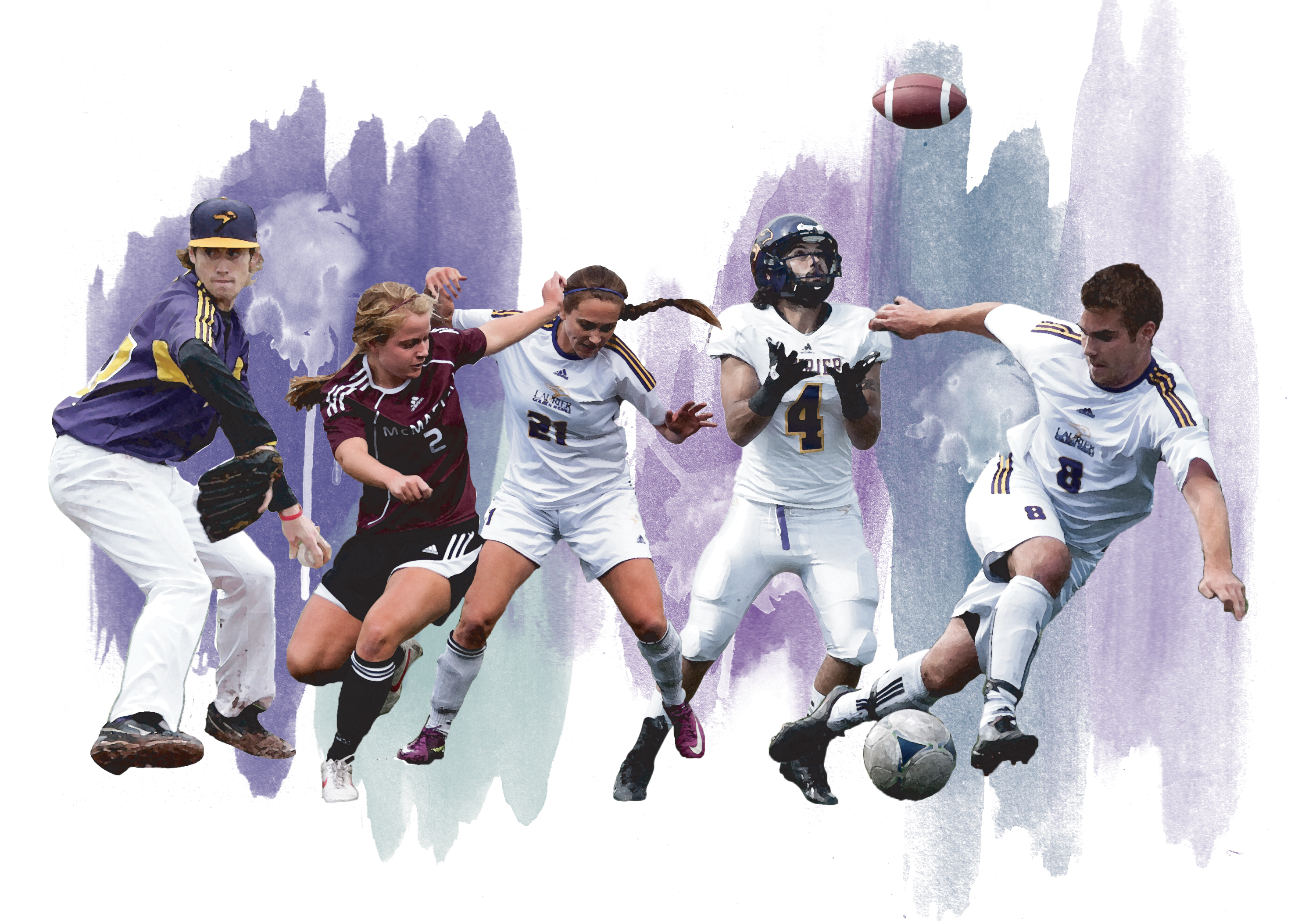 The Hawks start their fall campaign this upcoming week. (Photos by Megan Cherniak, Heather Davidson and Jody Waardenburg; Photo manipulation by Kate Turner)