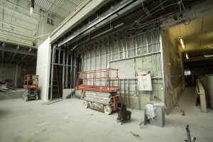 The new front atrium that will be the entrance into the Athletic Centre. (Photo by Heather Davidson)