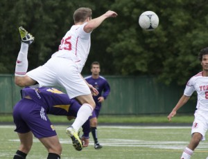 The Hawks suffered a rough 7-0 loss after winning 2-0 against UOIT. (Photo by Kha Vo)