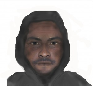 A sketched photo of the alleged perpetrator (Courtesy of Waterloo Regional Police)