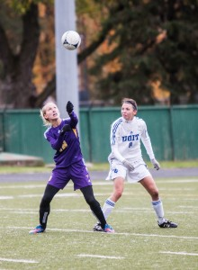 Laurier's women's soccer team punched their ticket to the OUA Final Four with a win over the OUIT Ridgebacks. (Photo by Jody Waardenburg)