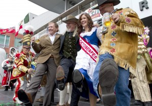 Community members celebrate at Oktoberfest opening ceremonies