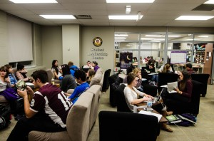 Students were invited to the 24 Hour Lounge on Thursday night for the Long Night Against Procrastination. (Photo by: Jody Waardenberg)