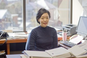 Dr. Kim collaborated with other researchers to look at methods for increasing participation in social causes. (Photo by: Jessica Dik)