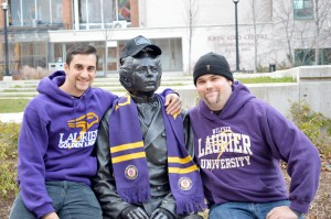 GianPaul Delle Donne and Andrew Myles are running Laurier's Movember campaign this year. (Photo by: Andriana Vinnitchok)