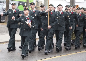 The annual Remembrance Day parade began at the Legion in Waterloo. (Photo by Will Huang)