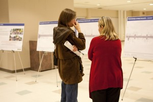 Community members attended a third public hearing to consider road changes on King Street North. (Photo by Heather Davidson)