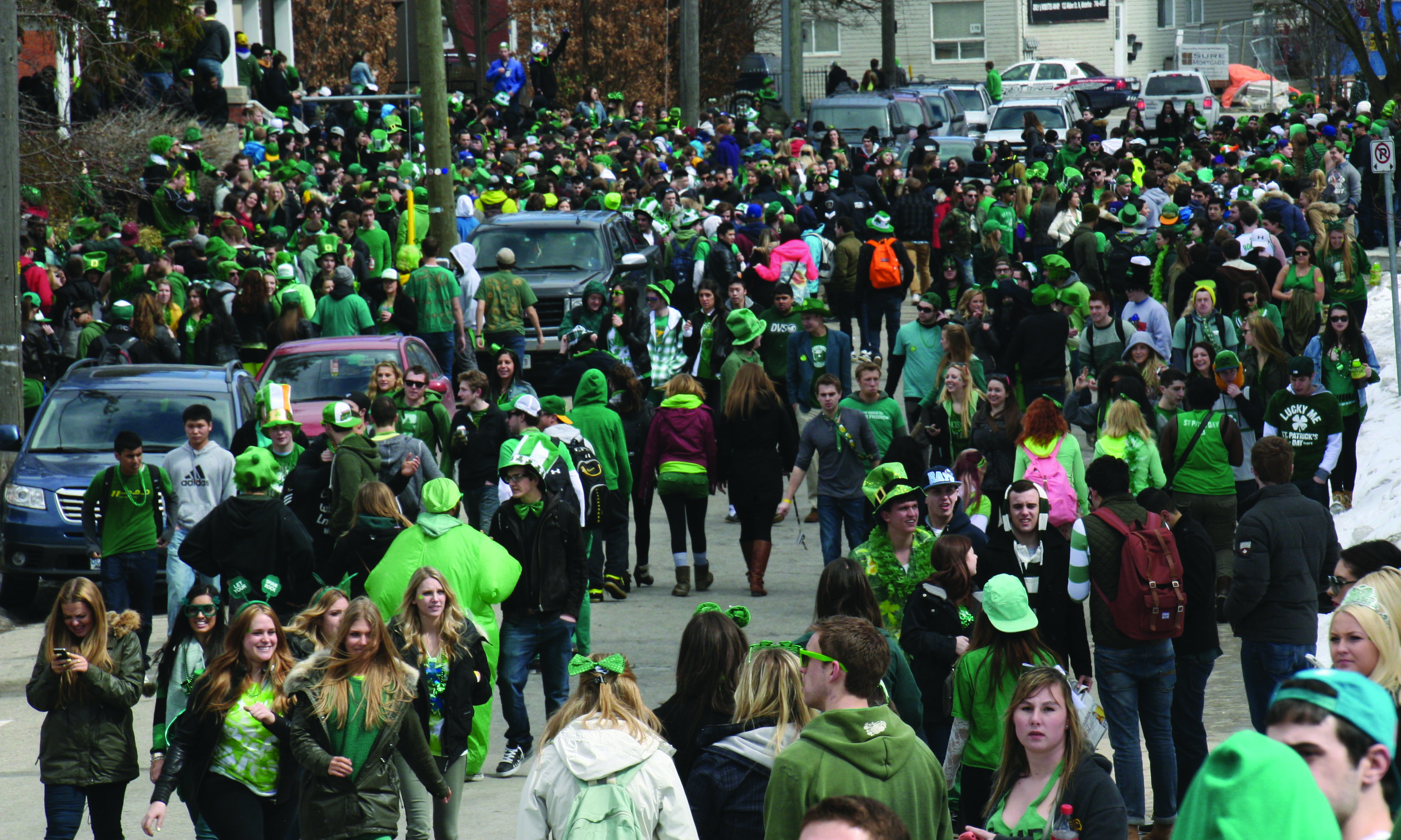 Last year's Ezra St. Paddy's Day festivities brought out more than 7,000 people (Photo by Shelby Blackley)