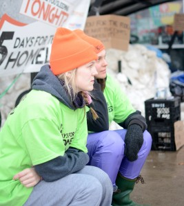 Laurier students are currently participating 5 Days for the Homeless (Photo by: Kha Vo)