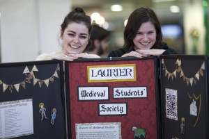 Students ran booths in the Concourse that represented programs within the faculty of arts (Photo by: Ryan Hueglin)