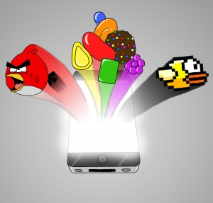 Apps like Flappy Bird, Angry Bird and Candy Crush are considered rare occurrences in the world of apps. (Graphic by Lena Yang)