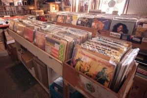Orange Monkey in Waterloo sells LP vinyls. (Photo by Will Huang)