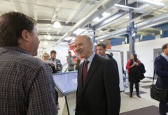 Ontario Minister of Research and Innovation, Reza Moridi, at Communitech Thursday. (Photo by Will Huang)