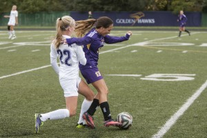 Women's soccer vs Western (Heather Davidson)