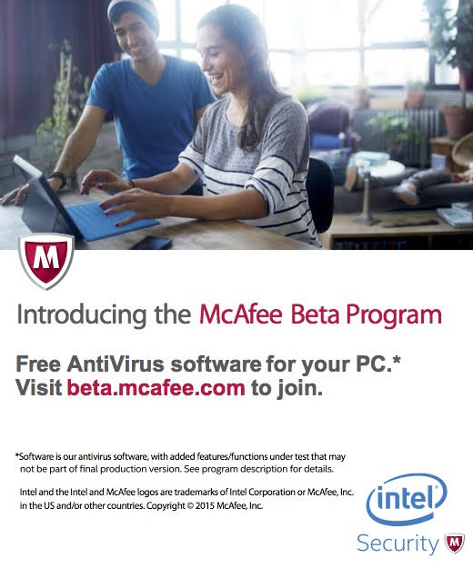 McAfee Beta Program