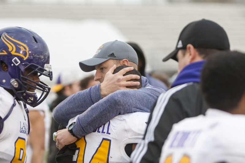An emotional loss against Western, marking the end of Wilfrid Laurier's football season. (Photo Editor/Will Huang)