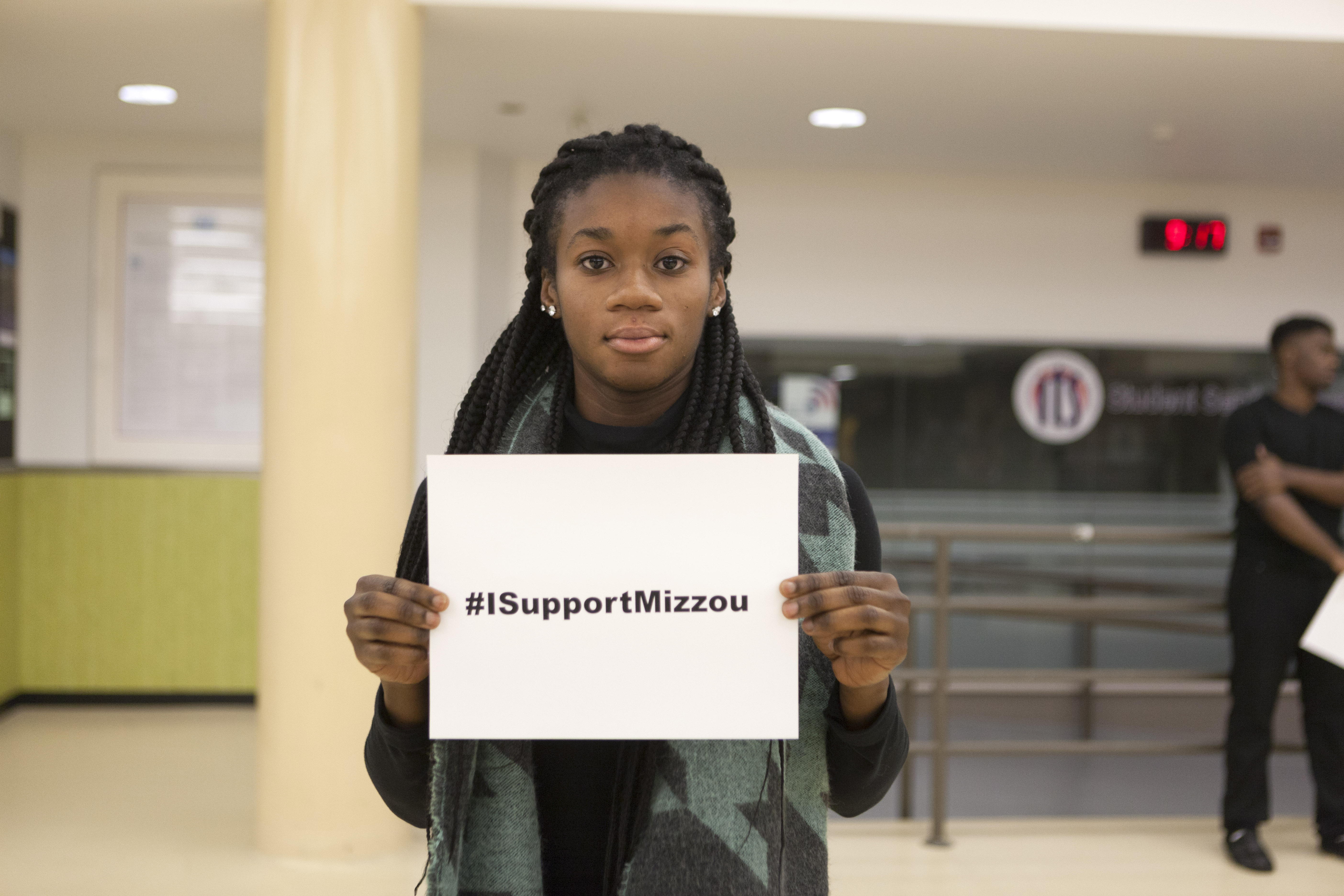Students had the opportunity to show their support for Missouri Thursday.