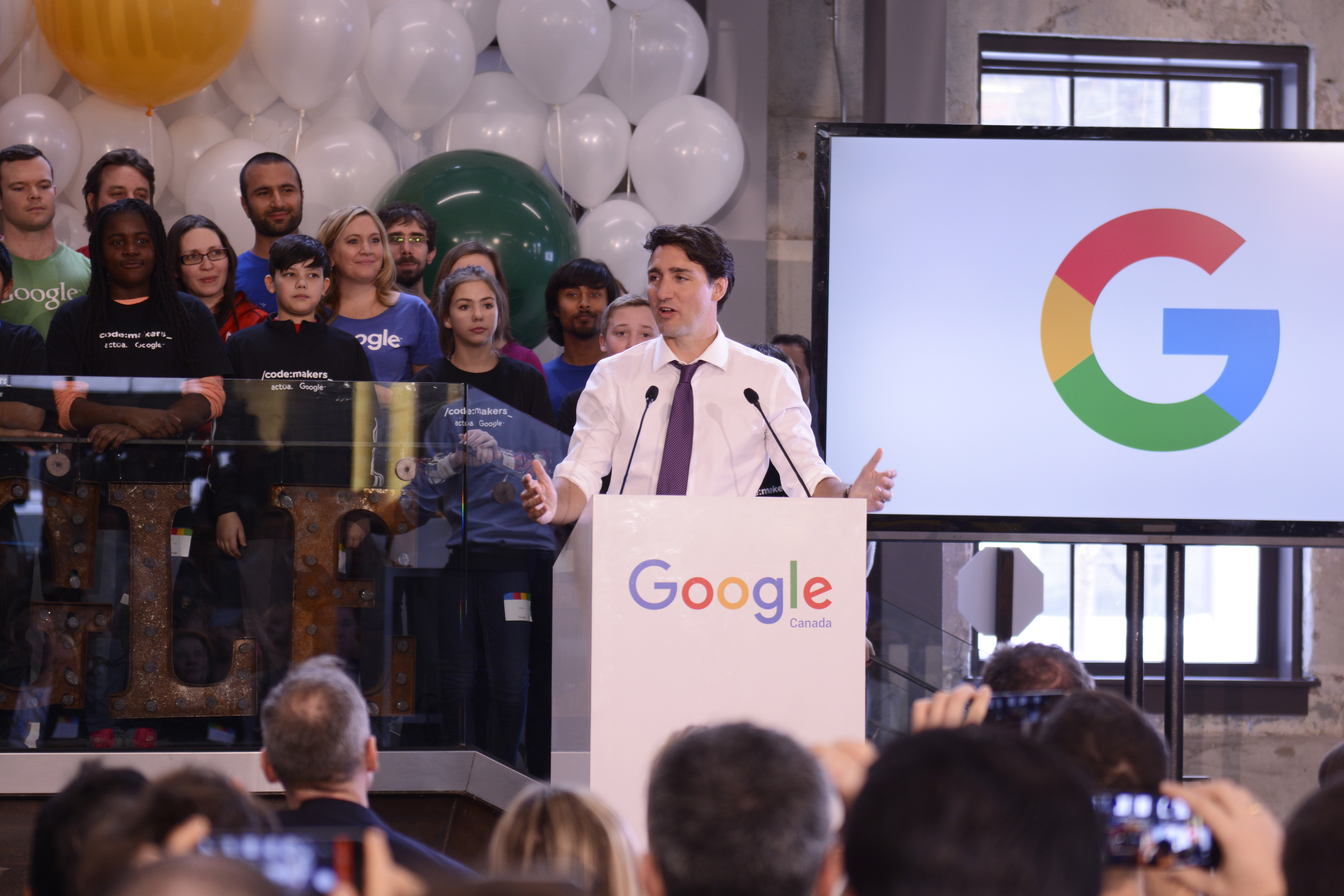 Justin Trudeau also received a tour of Google Canada's new hq in Kitchener on his trip